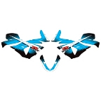 08-10 Suzuki GSXR600/GSXR750 Factory Effex Upper Fairing Graphic Kit