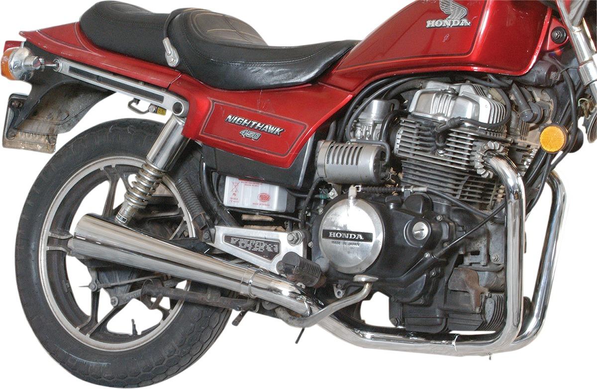2-1 Chrome Megaphone Full Exhaust - For 78-82 Honda CX500/C/D