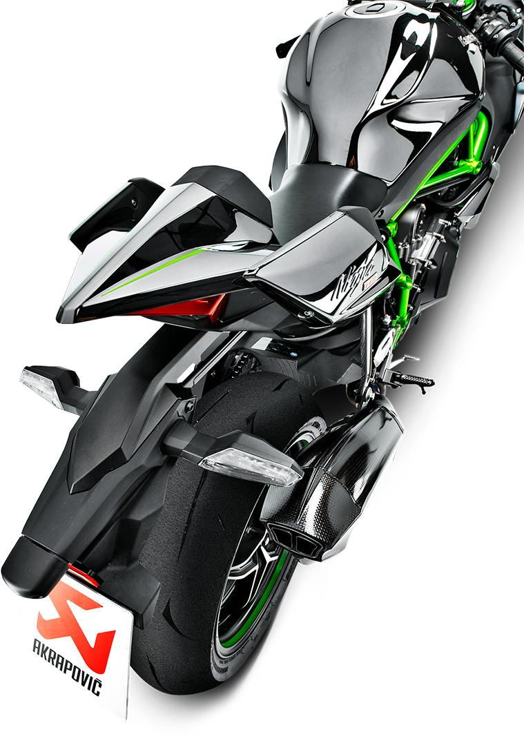 15 16 Kawasaki H2 H2R Akrapovic Evolution Carbon Fiber Full Exhaust