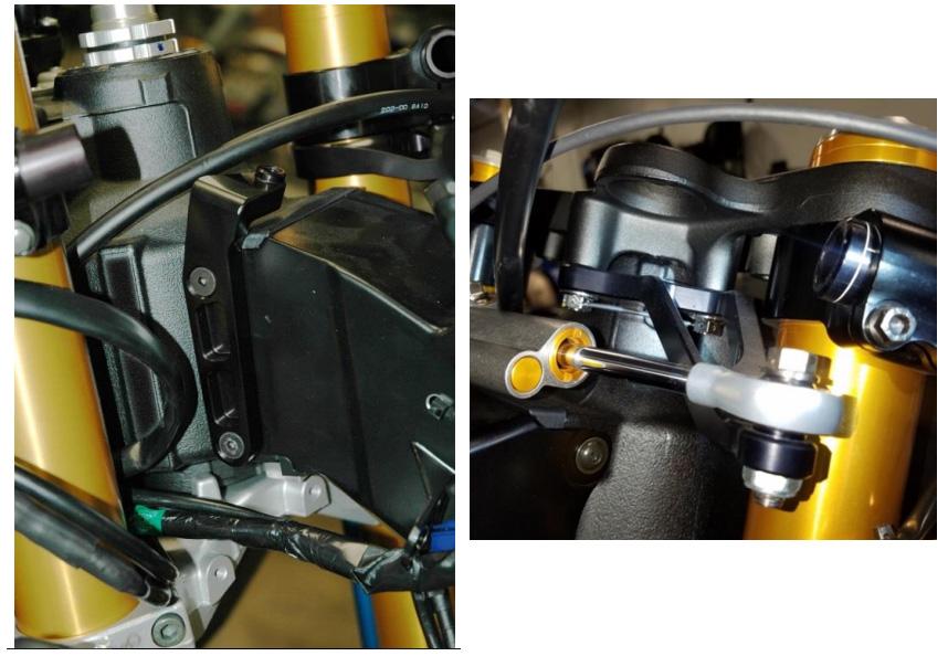 Yamaha R6 2017 WORKS Steering Damper Mount