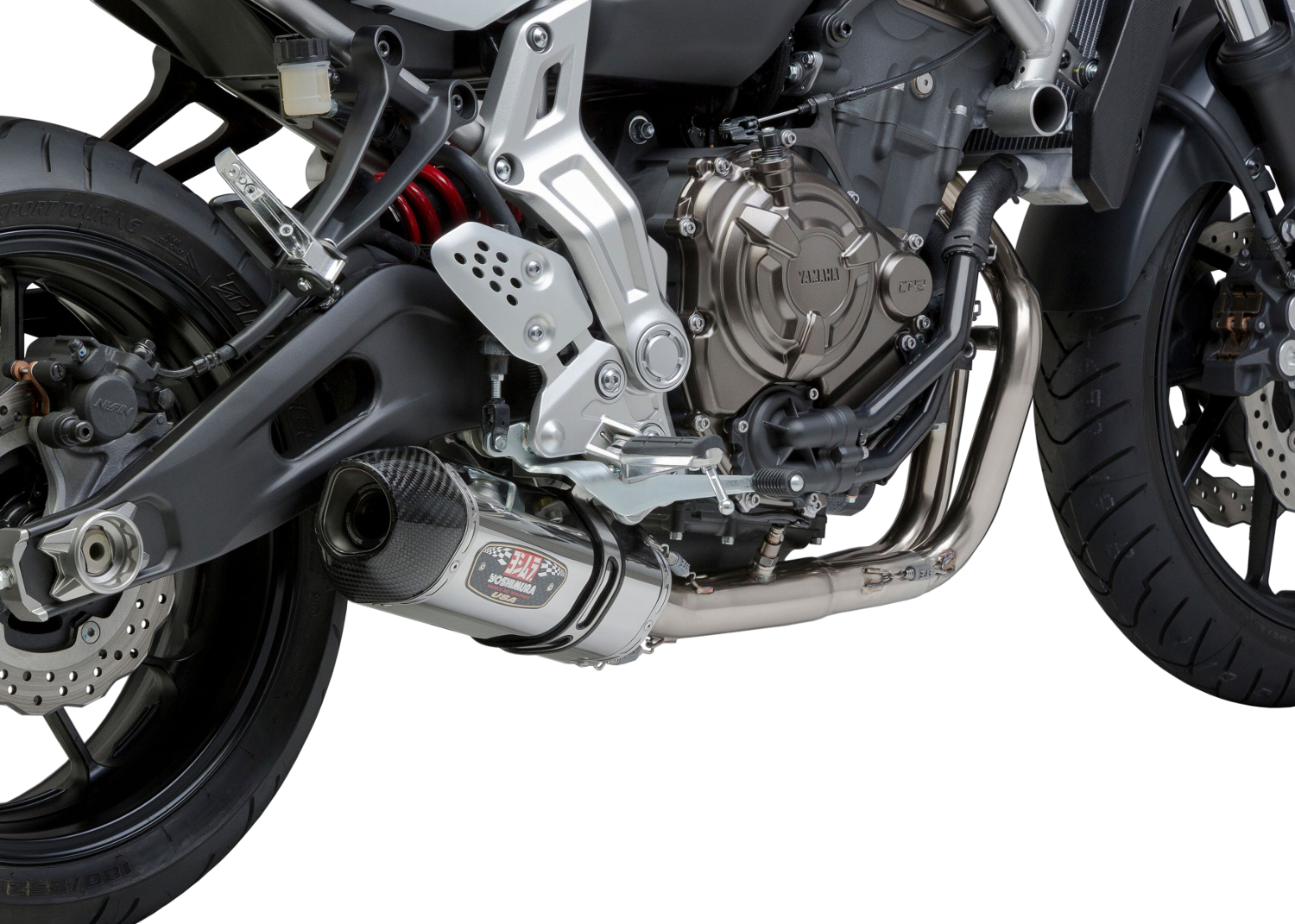 Race R77 Stainless Steel Full Exhaust - For 15-17 FZ07 & 2018 MT07