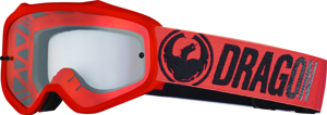 Mxv Break Goggle Red W/Clear Lens - MXV Goggle