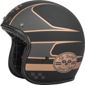 .38 Wrench Motorcycle Helmet Black/Copper Large