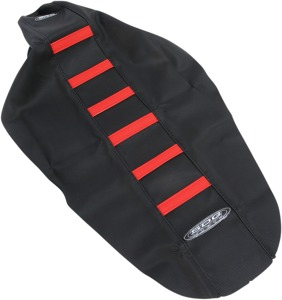 6-Rib Water Resistant Seat Cover Black/Red - For 17-18 Honda CRF450R/X