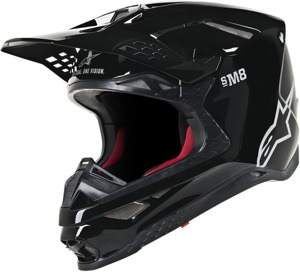 Supertech S-M8 Solid Helmet Gloss Black 2X-Large