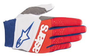 Racefend Gloves White/Red/Blue 2X-Large