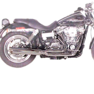 Fat Cat Full Exhaust Chrome Louvered Baffle - 06-16 HD Dyna Fat Bob/Wide Glide