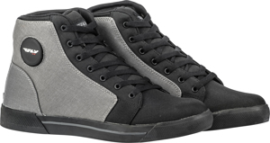 M16 Canvas Motorcycle Riding Shoes Grey/Black Textile Sz 8