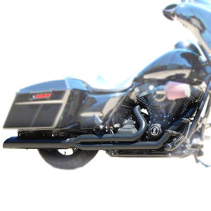 Boarzilla Slant Cut 2-1 Full Exhaust Blk Perf. Wrap Baffle