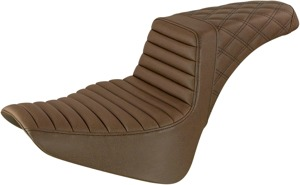 Step-Up LS Tuck and Roll 2-Up Seat Brown - For 18-20 FLDE FLHC