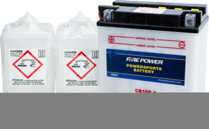 12V Heavy Duty Battery w/Acid Pack - Replaces YB16B-A