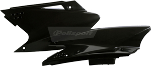 Plastic Side Number Plate Black - For 06-08 Kawasaki KX250F