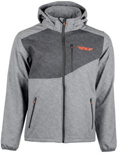 Checkpoint Riding Jacket Grey Heather/Orange Medium