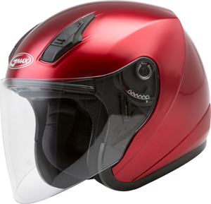 OF-17 Open-Face Helmet Candy Red Large