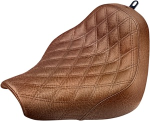 Renegade Lattice Stitched Solo Seat Brown Gel - For 18-20 FXBR/S