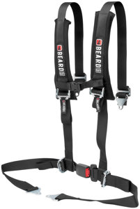 "4 Point Beard Safety Harness - 2"" x 2"" w/Pads Auto Style Buckle"