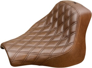 Renegade Lattice Solo Seat Brown Gel - For 18-20 Harley FXFB/S