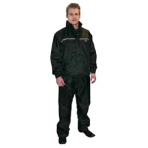 Dowco Iron Rider Guardian Black Deluxe Rain Suit - Small