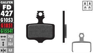 Bicycle Brake Pads PRO Compound - Front or Rear Pads