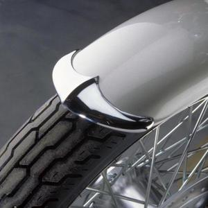 Chrome Cast Fender Tip, Front of Front Fender