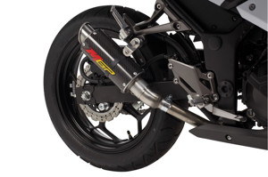 Carbon Fiber MGP Growler Slip On Exhaust - for 13-17 Kawasaki Ninja 300