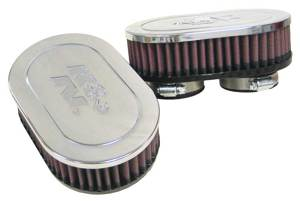 "Universal Chrome Air Filter - 2-1/8""DUAL FLG,4-1/2"" X 7""OD,2""H (2 PER BOX)"