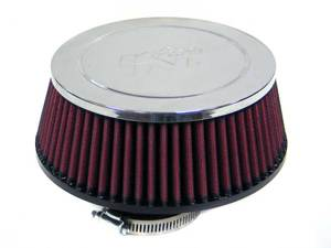 "Universal Chrome Air Filter - 2""FLG ID, 6-7/8""BOD, 5-7/8""TOD, 2-9/16""H, W/ VENTS"