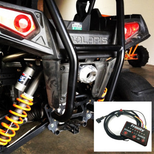 Brushed Full Exhaust & EFI Tuner - For 08-10 Polaris RZR 800