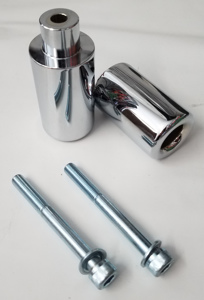 No Cut Chrome Frame Sliders - 03-04 Suzuki GSXR1000
