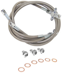 Front Stainless Steel Brake Line Kit - 13-15 CAN-AM MAVERICK 1000