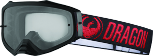 Mxv Plus Goggle Red W/Clear Lens
