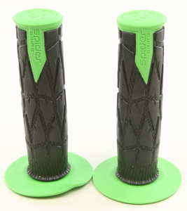 Spider Grips M1 Off Road / Motard Motorcycle Grips - Green & Black