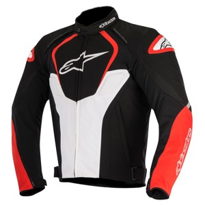 T-Jaws Air Textile Motorcycle Jacket - Black/White/Red XL