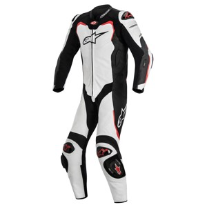 GP Pro Leather Road/Race Suit - Black/White/Red 48