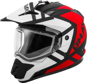 GM-11S Dual-Sport Trapper Snow Helmet Black/Red/White Small