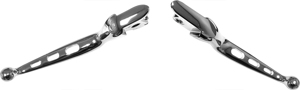 3-Hole Custom Levers Chrome (PAIR) - For 08-13 Harley Touring