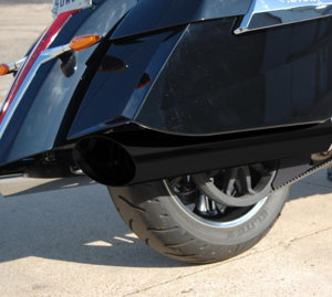 Black 45 Cut Slip On Exhaust Mufflers