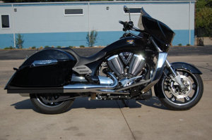 Black Straight Slip On Exhaust - Cross Country/Roads