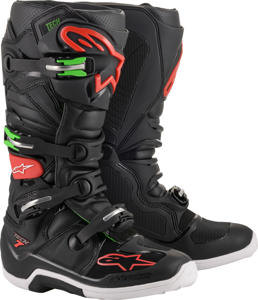 Tech 7 MX Boots Black/Red/Green US 11