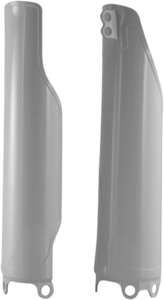 Lower Fork Cover Set White - For 04-17 Honda