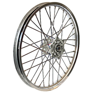 MX Rear Wheel 2.15x18 Silver/Silver - For 13-17 Honda CRF250R CRF450R/RX