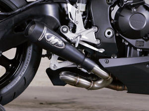 Black GP Slip On Exhaust w/ Cat Eliminator