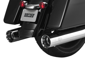 Oversized 450 Titan Chrome Dual Slip On Exhaust