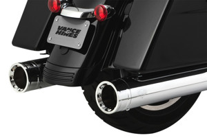 Oversized 450 Destroyer Chrome Dual Slip On Exhaust