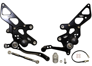 Black Adjustable Rearsets