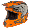 Toxin Resin Motorcycle Helmet Matte Orange/Khaki Youth Large