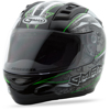 Gm-69 Full-Face Mayhem Helmet Black/Silver/Hi-Vis Green - Large