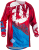 Kinetic Outlaw Jersey Red/Blue Youth X-Large