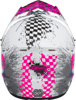 Youth MX-46Y Off-Road Anim8 Helmet White/Neon Pink/Purple Youth Small