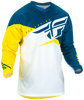 F-16 Jersey Yellow/White/Navy Youth Large